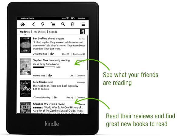 Goodreads no Kindle