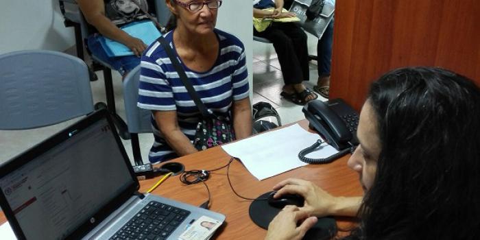 Punto de atención de la Unidad de Víctimas en el departamento de Caldas. Foto: Unidad de Víctimas