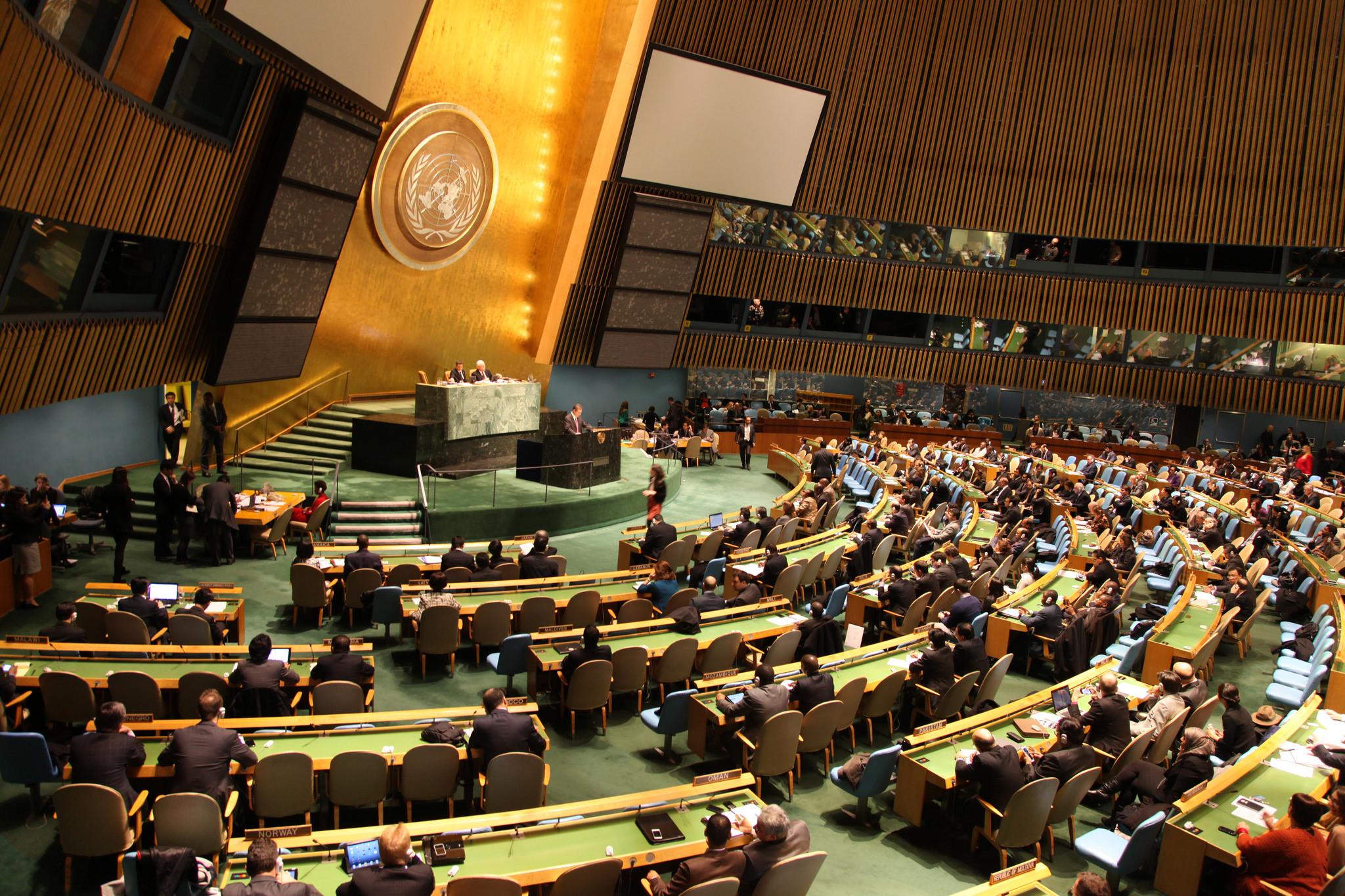 Día de la Votación del Tratado Internacional sobre el Comercio de Armas. Foto Paramita Nath (Control Arms)