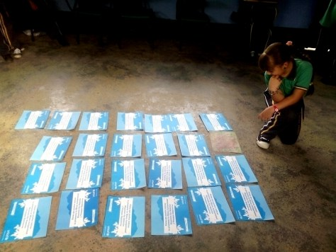 Actividad de ERM en una escuela del corregimiento de Liberia (Anorí, Antioquia)