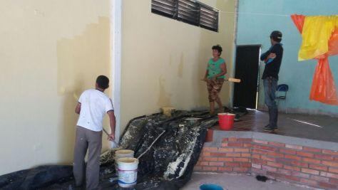 Trabajos de remodelación y pintura. Foto CCCM