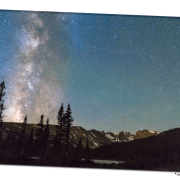"Middle of the Night Milky Way Above the Rocky Mountains 32""x48""x1.25"" Premium Canvas Gallery Wrap Art"