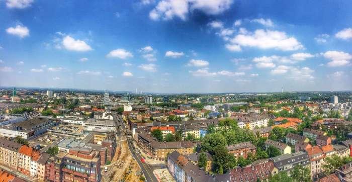 Blick vom Exzenterhaus über Bochum