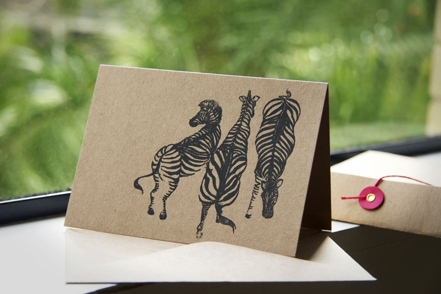 Feather and Spear - Zebras cards. Image provided.