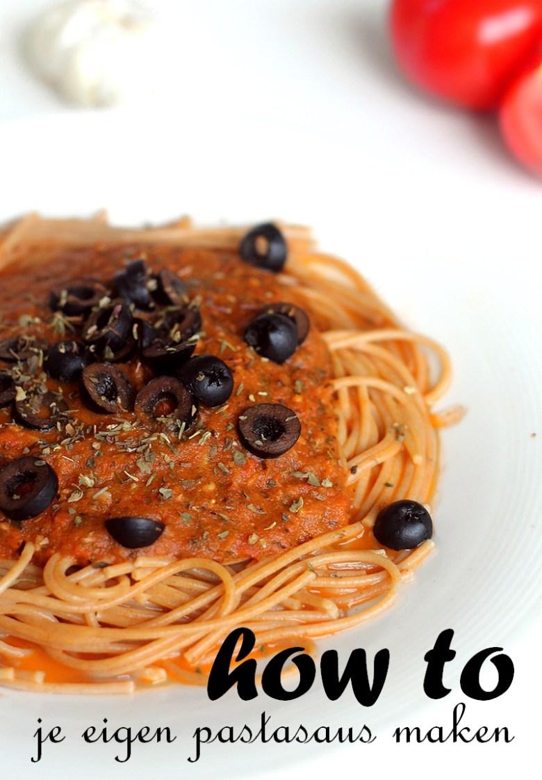 Recept makkelijk zelf pastasaus maken tomatensaus Pinterest