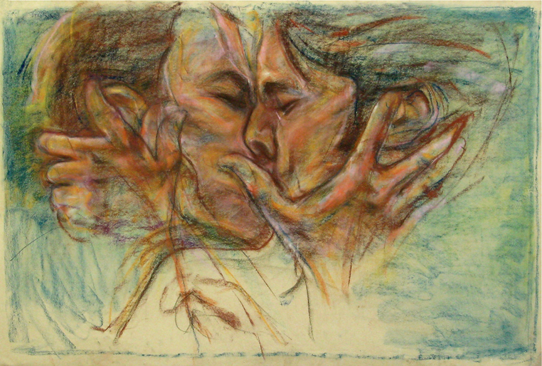 """""""The Kiss"""" by Bob Ziering. Courtesy of the artist."""