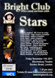 Image of Stars: Bright Club