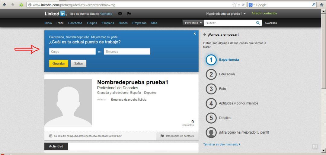 crear perfil en linkedin 6