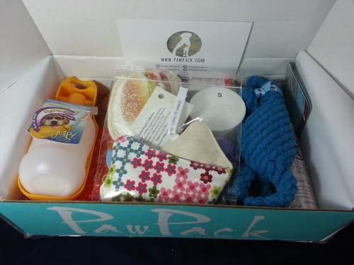 PawPack - Dog Subscription Box - Goodies Inside