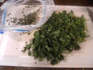 fresh herbs for cooking a beef tenderloin