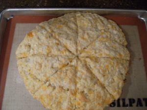 baked cheddar-apple-scones