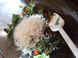 Mixing Tortellini Florentine