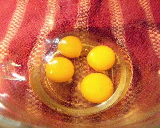 cracked eggs needed to make baked oatmeal recipe