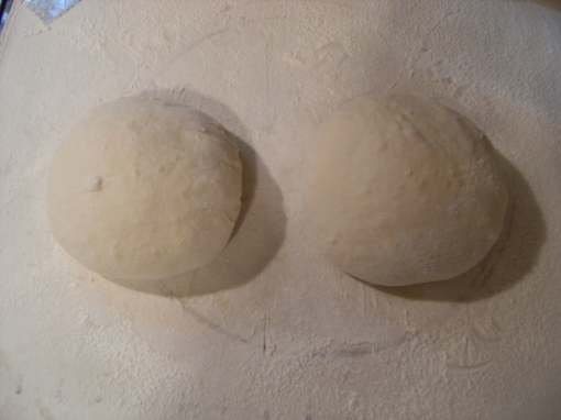 homemade-sourdough-balls of dough