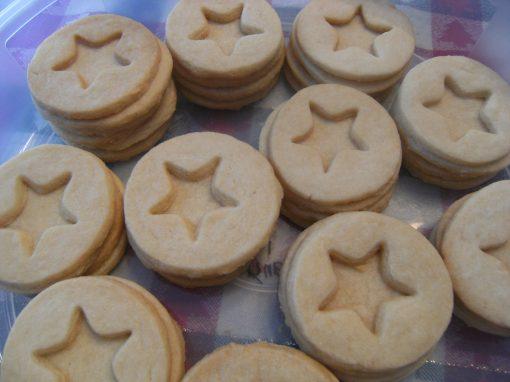 Shortbread Linzer Cookies, unfilled