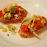 Easy Appetizers: Corn and Avocado Crostini