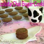 Combining Obsessions: Chocolate Chai Sugar Cookies