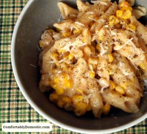 Staving Off a Meltdown with Creamed Corn Macaroni and Cheese