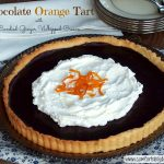 Latest Acquitions, Personal Reflections and Sundays with Joy: Chocolate Orange Tart with Gingered Whipped Cream and Candied Orange Peel