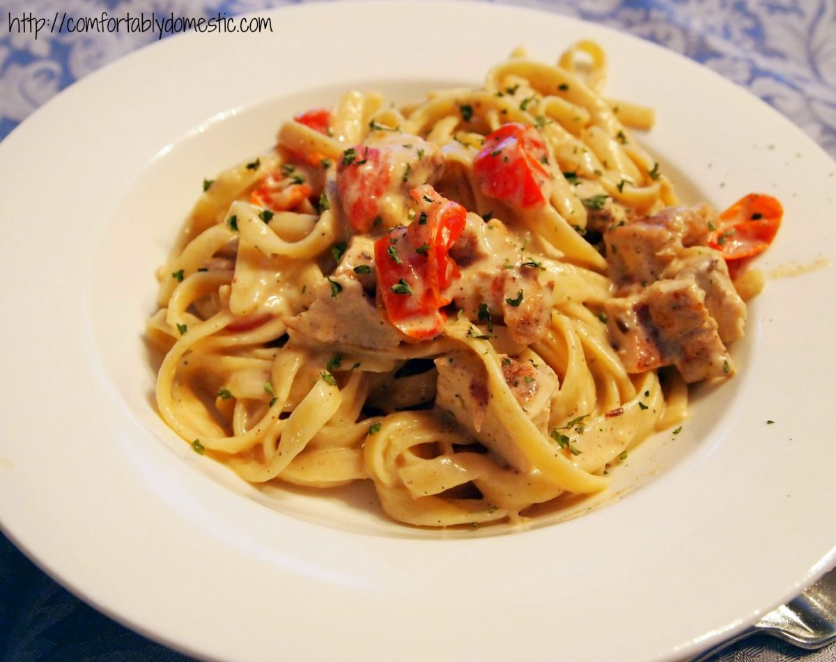 {Date Night} Cajun Chicken Fettuccine Alfredo