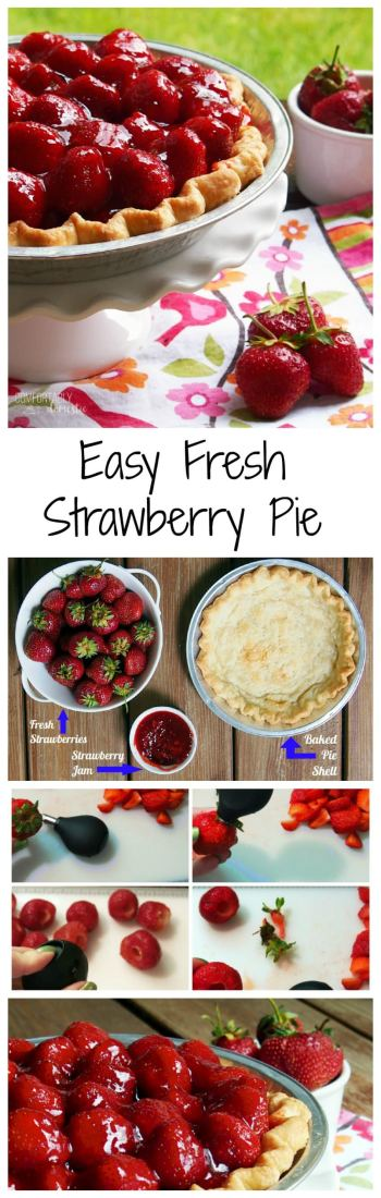 Fresh-Strawberry-Pie-is-so-easy-and-tastes-like-sweet-summertime. |ComfortablyDomestic.com