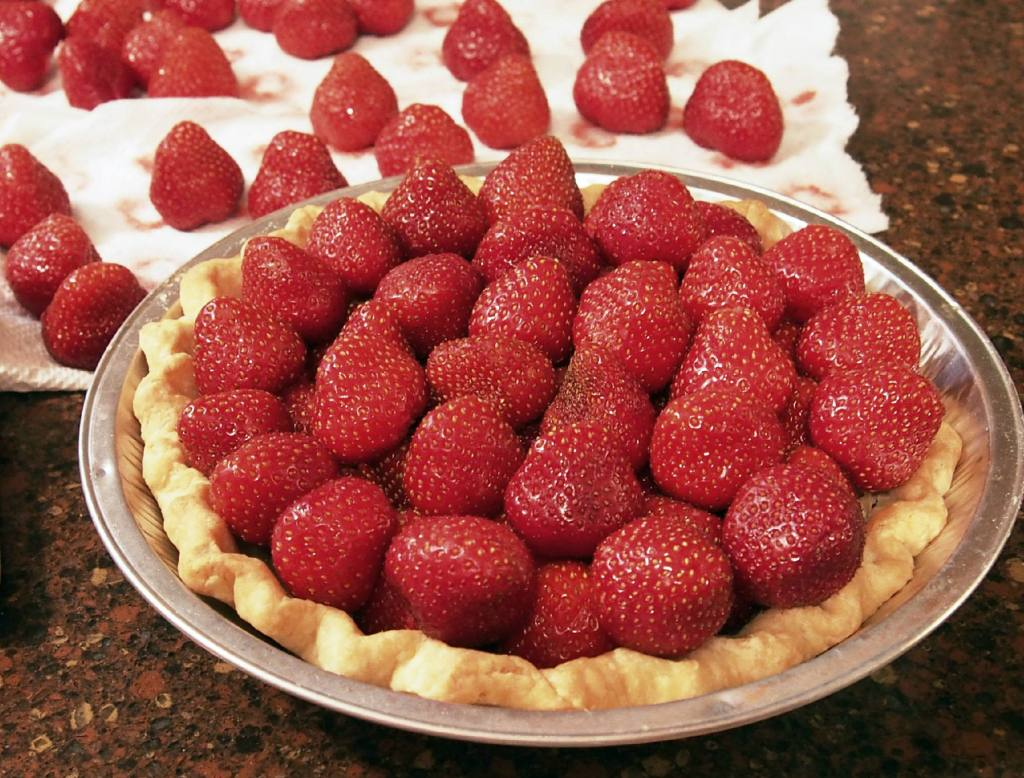 strawberries in pastry