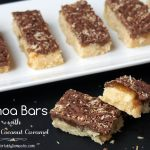 Copycat Girl Scout Cookies: Samoa Bars with Salted Coconut Caramel
