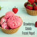 Strawberry Colada Frozen Yogurt: Refreshment That's Easy on the Waistline