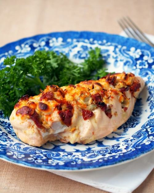 Hasselback Stuffed Chicken