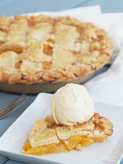 Red Haven Peach Pie
