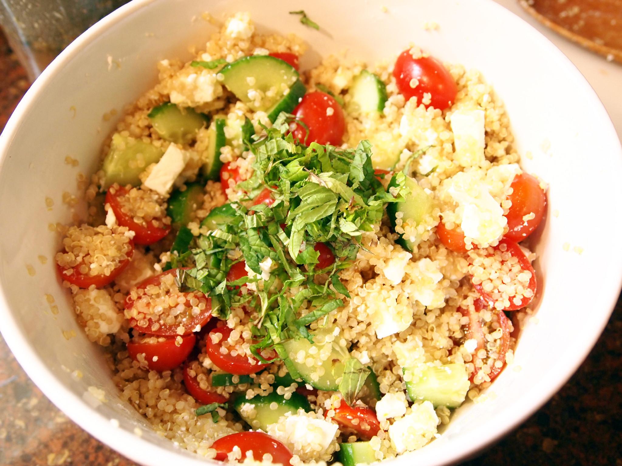 Salad Week Finale: Greek Quinoa Salad - Comfortably Domestic
