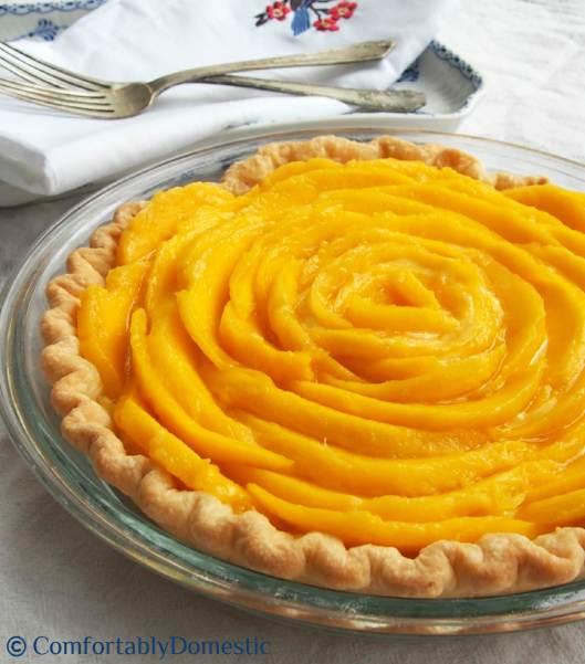 Mango Cream Pie via ComfortablyDomestic.com