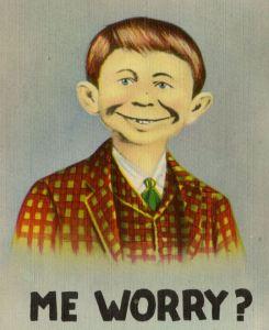 Alfred E. Neuman Postkarte