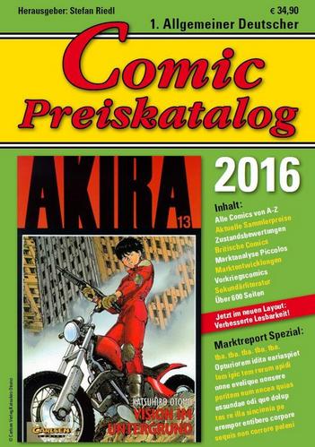 1. Allgemeiner Deutscher Comic Preiskatalog 2016