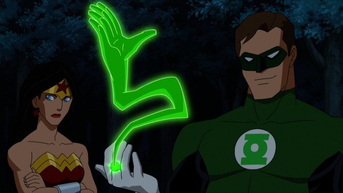 Wonder Woman and Green Lantern in Justice League: Doom