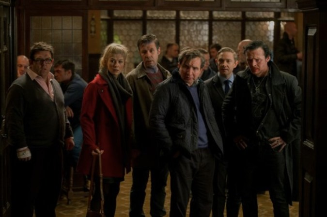 The boys and Rosamund Pike in The World's End