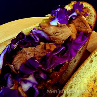 baguette de pollo teriyaki 320X320