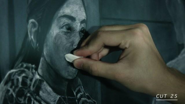 6,328枚の黒板アートで作られたカロリーメイトのCM