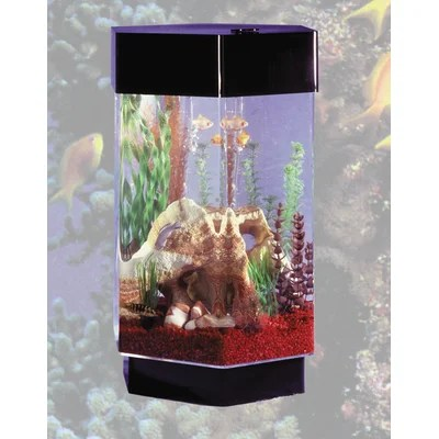 Fountain AquaScape 8 Gallon Hexagon Aquarium | Fish Aquarium Mart