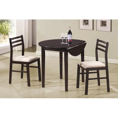 Image of Wildon Home Lexington 3-Piece Dining Set in Cappuccino (CST9185)