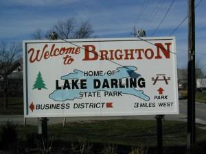 Brighton Iowa Sign