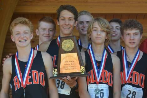 The Aledo Bearcats cross country team finished second at the District 6-5A cross country meet which was held Friday morning at Central Park in White Settlement. The second-place finish qualifies the team for next week's regional meet in Lubbock.