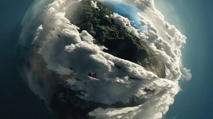 Gases que rodean la tierra impidiendo que la radiacion pase al espacio exterior