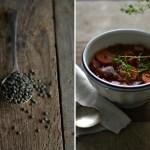 Estufado de lentilhas e beterraba