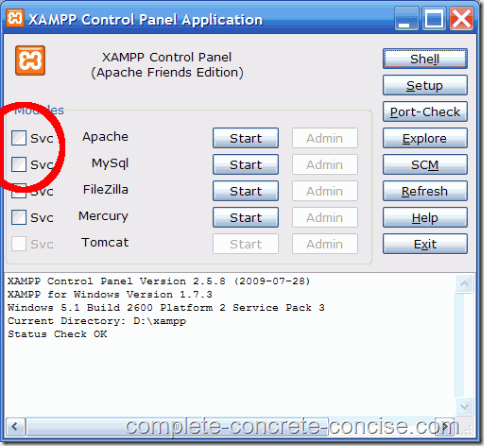 xampp-main-panel