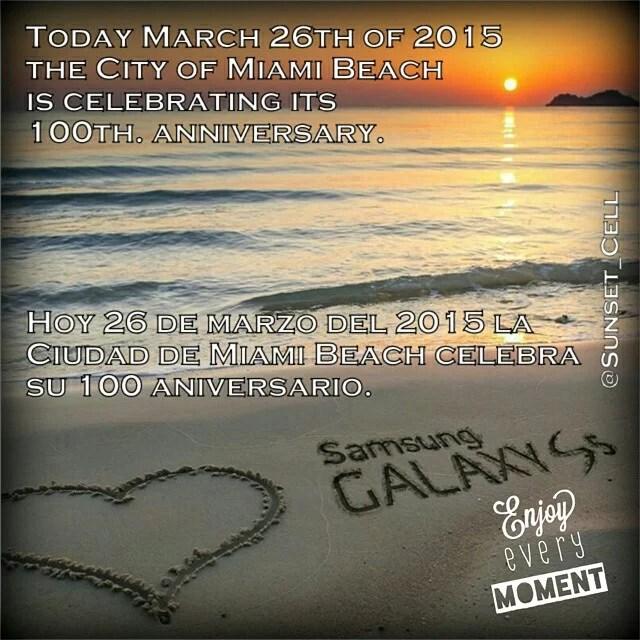 Happy 100 years Miami Beach! (Feliz 100 años Miami Beach!) #miamibeach100  #Follow