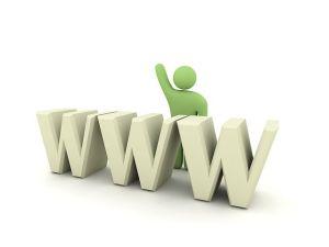 Logotipo del worldwideweb representativo de Internet