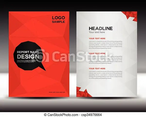 Gold cover annual report design vector illustration  Red annual     Gold Cover Annual Report Design Vector Illustration
