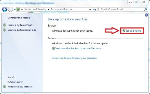 Windows Backup Restore 03 Configure Backup and Restore in Windows 7
