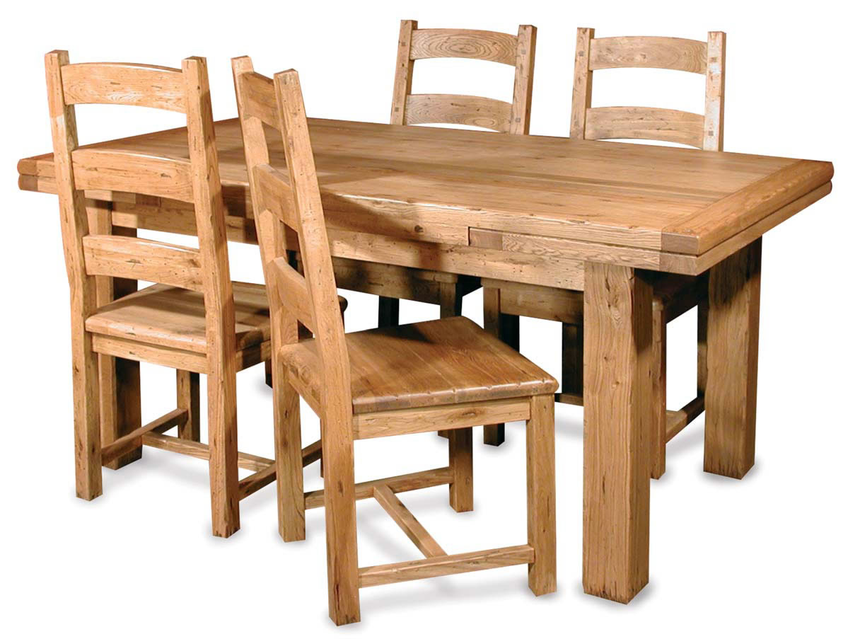 solid wood dining room table and chairs wood kitchen chairs Home Furniture By Room Dining Room Dining Tables Rustic Solid Wood